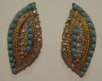 Vintage Costume Jewelry Earrings Gold Tone