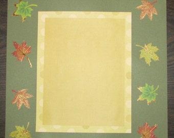 12x12 Autumn Scrapbook Page, Autumn Layout, Autumn Scrapbook, Autumn Premade Pages, Autumn Premade Scrapbook, Autumn Premade Layout