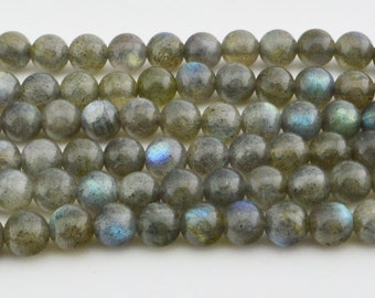 15.5  IN  Natural  Labradorite  Round   Bead 6MM