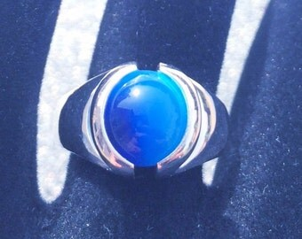 Sterling Silver Interchangeable Marble Ring 10mm with 10 pack of marbles
