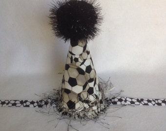 Soccer Inspired Birthday Party Hat (Free Personalization)