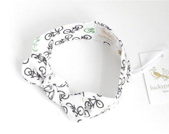 SALE Organic knit headband, Bicycle