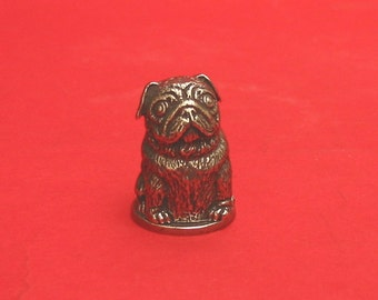 Pug Dog Russian Doll Thimble Pewter Collectors Thimble Pug Gifts
