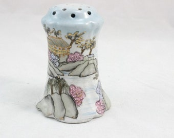 Hand Painted Nippon Hatpin Holder, Nippon Shaker Hat Pin Holder