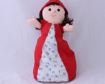 Little Red Riding Hood Story Telling Doll, Upside Down Doll, Red Riding Hood Topsy Turvy Doll