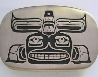 Whale Belt Buckle - Northwest Coast Indian Style