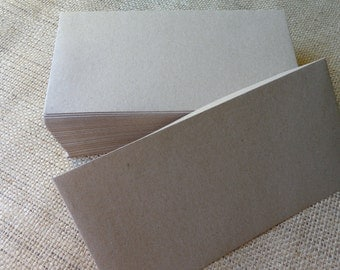 50 Rustic Brown Recycled DL Envelopes