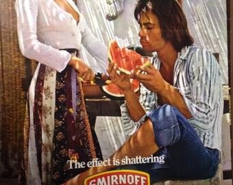 1970's Smirnoff Vodka Poster Advertisement Ad AntikaGarage