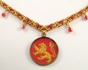 Elegant Lannister Chainmail Necklace