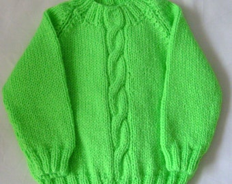 Lime Green Baby Jumper