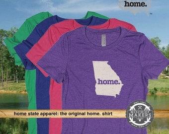 Georgia Home. T-shirt- Womens Red Green Royal Pink Purple