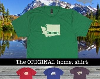 Washington Home shirt Men's/Unisex SOFT green blue red purple