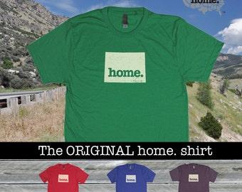 Wyoming Home shirt Men's/Unisex  green blue red purple