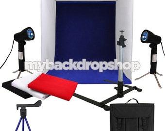 "16"" Photography Light Tent Backdrop Cube in a Box Kit - 100w Photo Studio - Photography Studio Equipment"