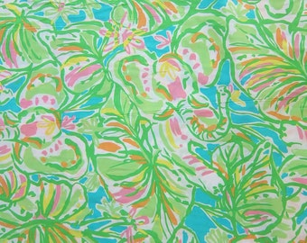 "18"" x 19"" Lilly Pulitzer Fabric Elephants Ears    a"