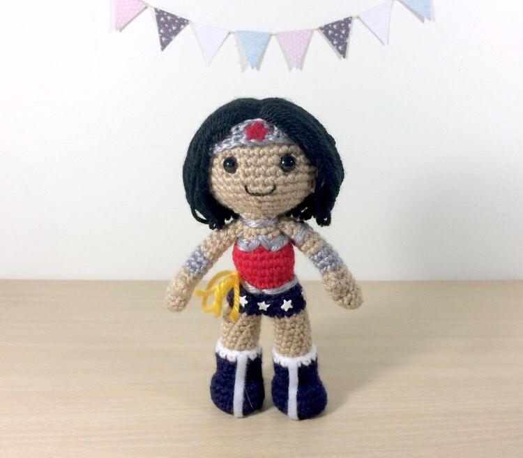 Wonder Woman Amigurumi Crochet Doll Pattern by 53Stitches ...
