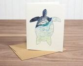 Sea Turtle - blank notecard