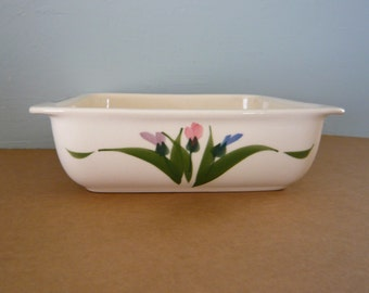 Baking Dish Clay Designs Hand Painted Stoneware