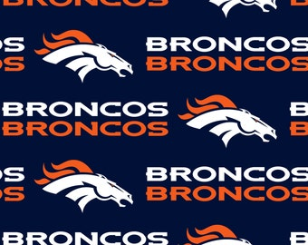 DENVER BRONCOS NFL Cotton Fabric By The Yard Sports Team Football 100% Cotton New