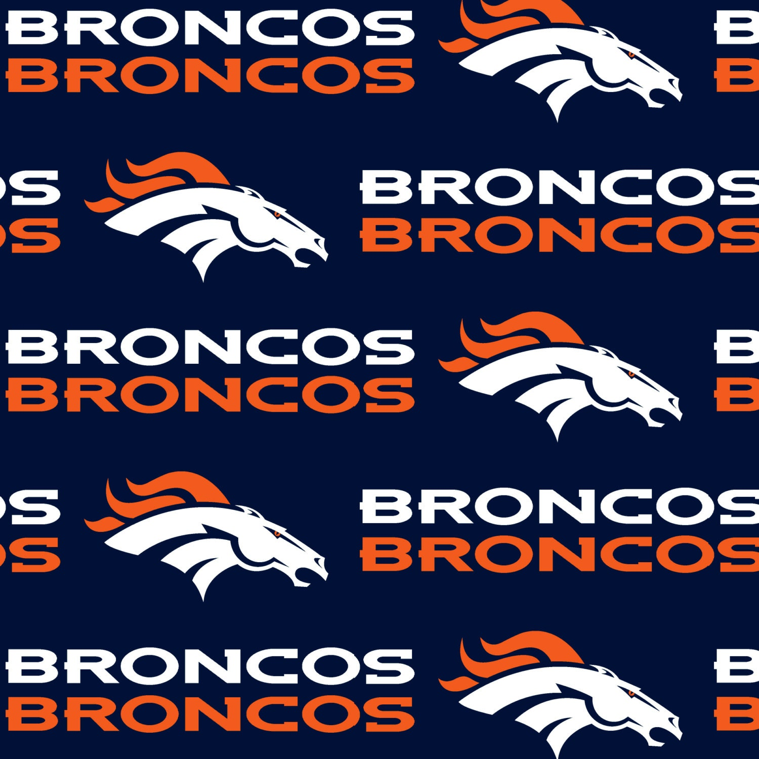 DENVER BRONCOS NFL Cotton Fabric By The Yard Sports Team