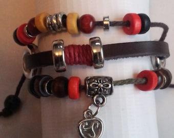 Bead and key bracelet