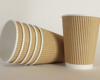 12 oz Kraft Ripple Hot or Cold Cup Set of 25