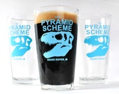 T Rex logo Pint Glass...
