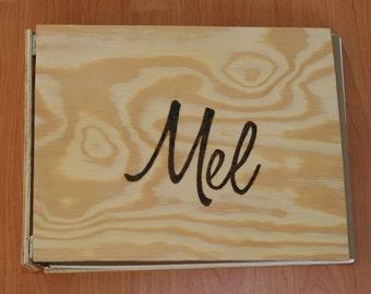 Custom Handmade Repurposed Upcycled Wood Binder