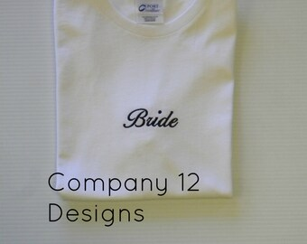 Ready to ship BRIDE tee/ white size Medium
