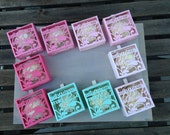 BUNDLE OF 10 Bridal Party Personalized Cut-out boxes - personalized ribbon included