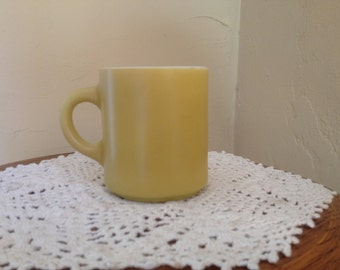 Vintage Corning Yellow Ochre Coffee Mug-Nice Condition