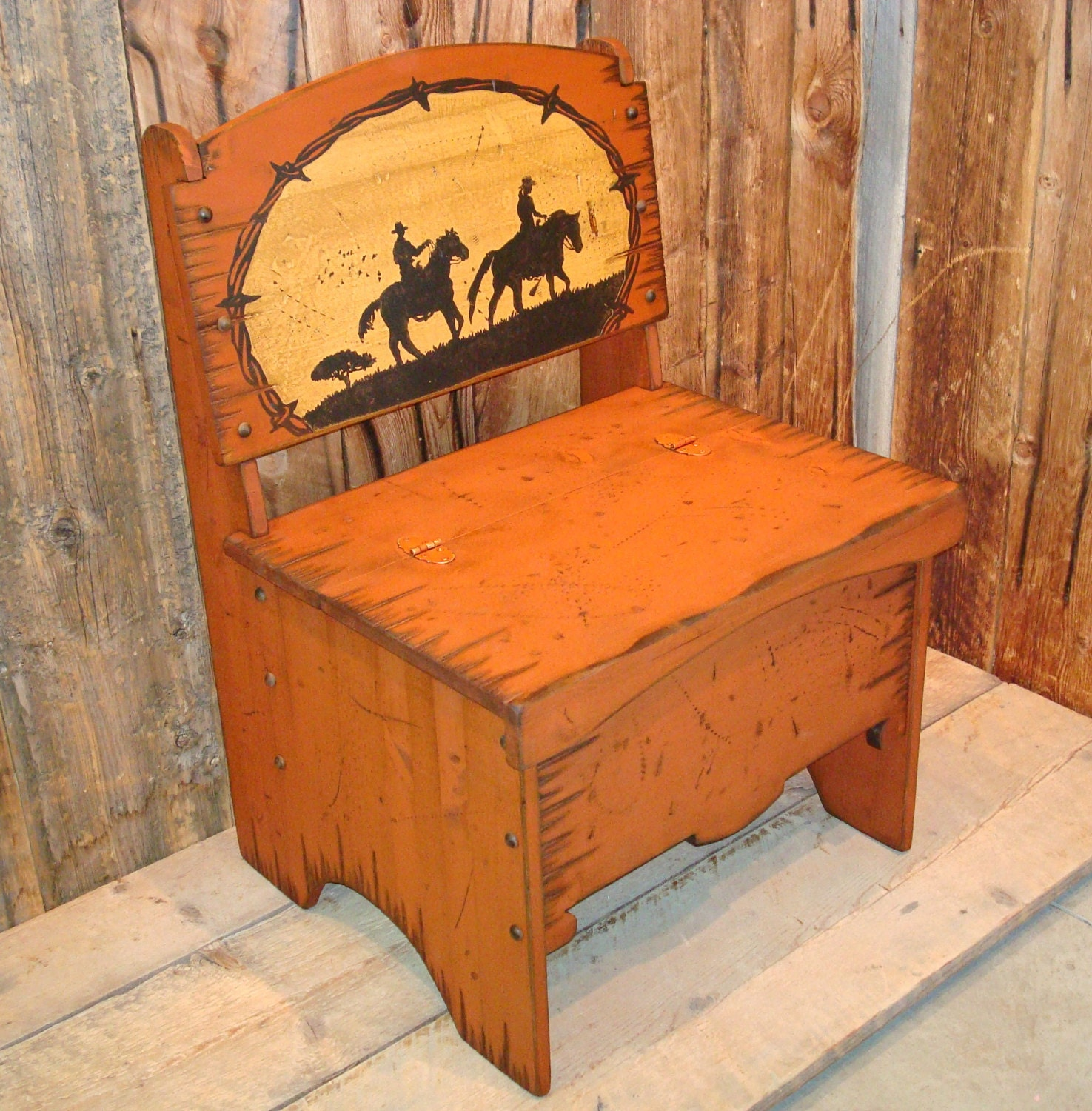 Trunk Bench Chair Storage Bench Western Bench Solid Pine