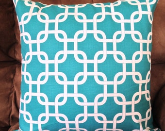 Gotcha True Turquoise Home Decor Throw PILLOW CASE /  Pillow Cover / Home Accent different sizes available