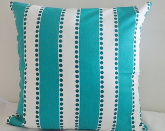 LuLu Stripe True Turquoise Home Decor Throw PILLOW CASE /  Pillow Cover / Home Accent different sizes available