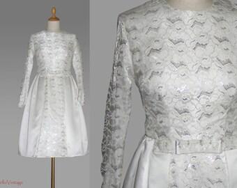 50s petticoat balldress, wedding dress, bridal gown, size S, Lace