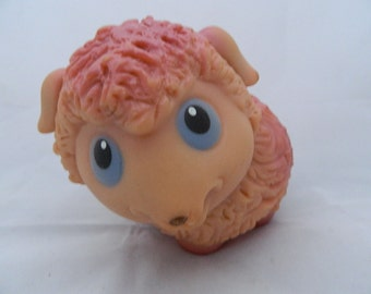 Lovely vintage rubber lamb from USSR - soviet toy - rubber toy