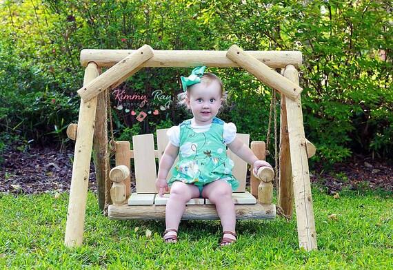 Rustic Wood Cedar Log Porch Swing Chair Bench By