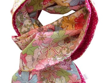 liberty scarf pink and fuchsia liberty