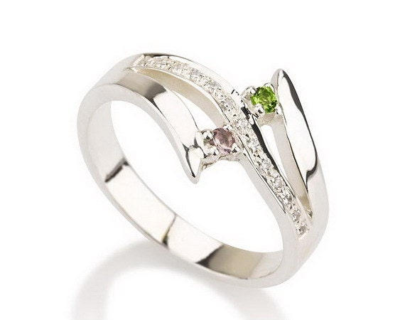 items similar to promise ring couples birthstone ring