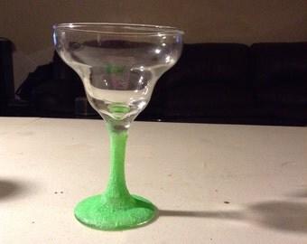 Neon Green Margarita Glass