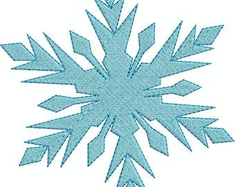 Frozen Snow Flake 1 Fill Machine Embroidery