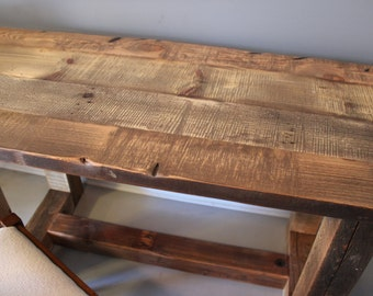 Solid Wooden Table Reclaimed Dining Table Kitchen Table Barn Wood