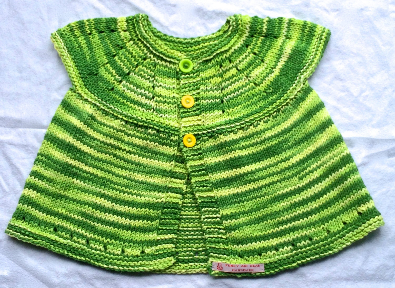Knit Baby Cardigan Baby Girl Clothes Green Knit Baby