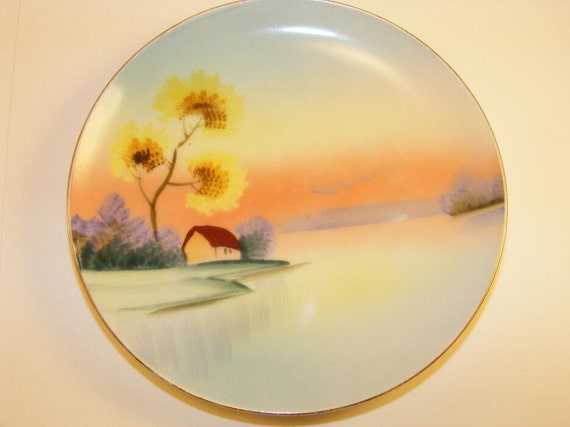 Vintage 1930s Meito China Made In Japan Hand Painted Plate
