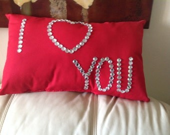 I Love You Pillow ( Free Shipping)