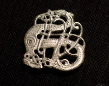 URNES STYLE BROOCH - sterling silver Viking brooch, replica