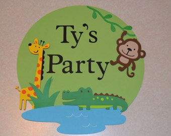 Jungle Birthday Party Welcome Sign - Birthday Party