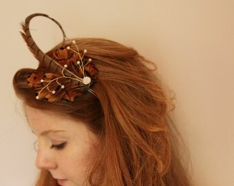 Pheasant Feather fascinator / headband for Women