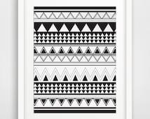 Tribal Print, Aztec Decor, Native American Art, Ethnic Decor, Boho Print, Hippie Art, African Wall Art, Mexican Decor, Gypsy Art, Ethnic Art