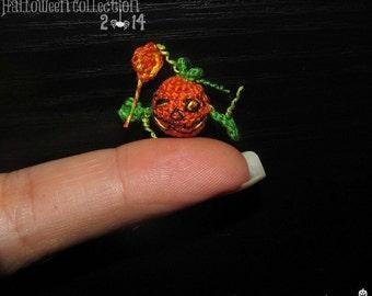 Miniature Halloween Pumpkin dollhouse halloween miniature halloween amigurumi crochet halloween miniature
